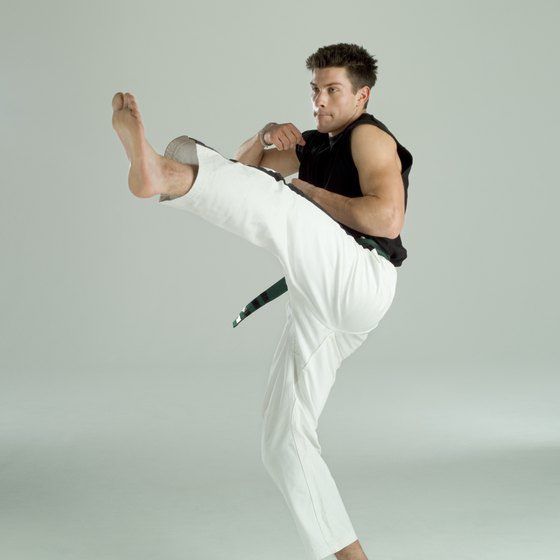 Training with kettlebells can improve your performance in karate.
