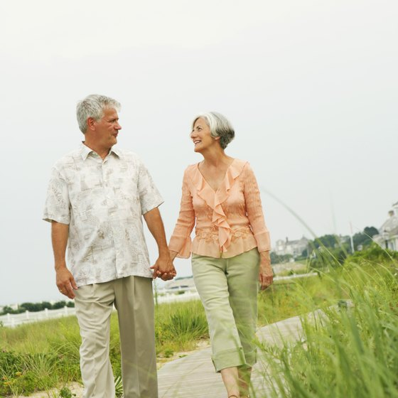 Walking can be a form of gentle exercise for cardiac patients.