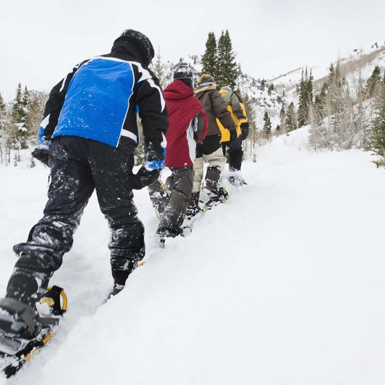 Snowshoeing can be fun alone or in a group.