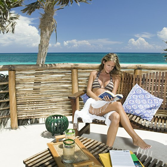 Relax under sunny skies at a top resort in Cancun, Mexico.