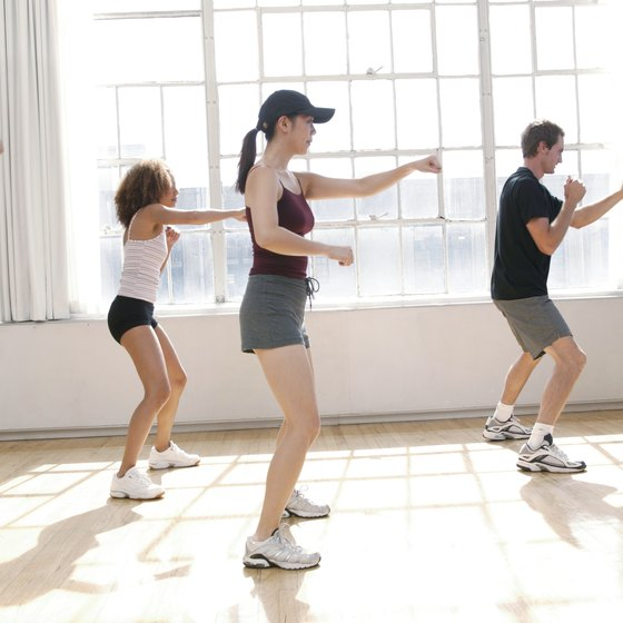 Intense cardio boot camp exercises improve heart health and burn calories.
