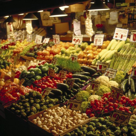 Local produce is a draw for customers.