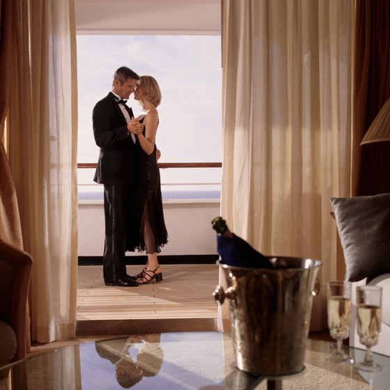 A cruise ship balcony room usually offers space and privacy.