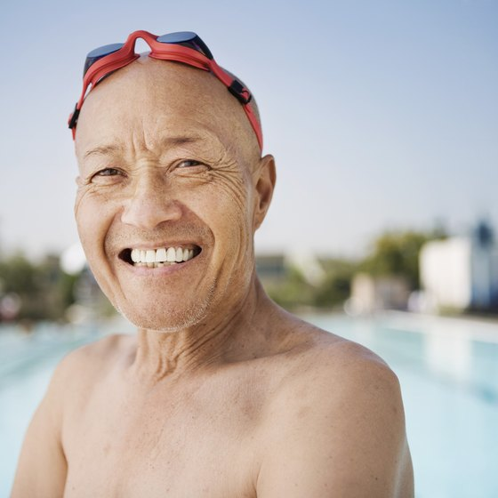 Swimming is a vigorous aerobic activity ideal for older men.
