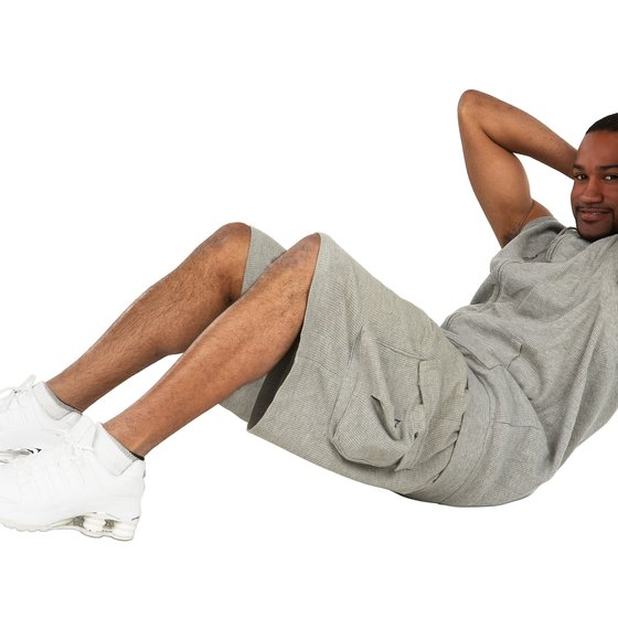 Crunches help build abdominal strength.