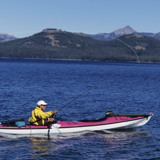 Yellowstone Lake provides good fishing opportunities and has a marina.