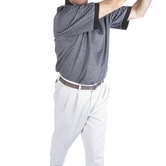Turning your hips is the key to following through with your golf swing.