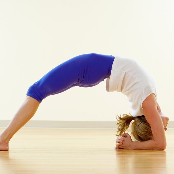 Yoga builds strength and flexibility.