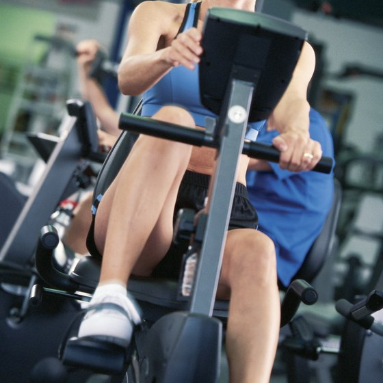 Reduce stress on your back by using a recumbent bike.