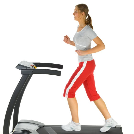 Build your stamina by walking on a treadmill.