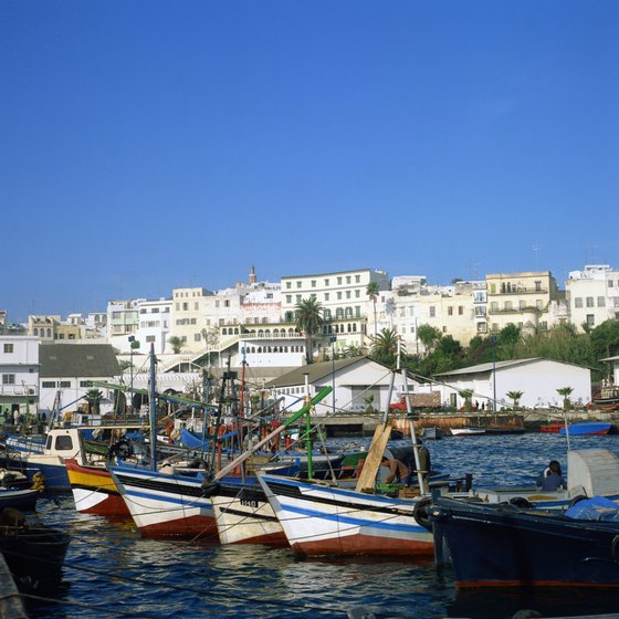 The Moroccan port city of Tangier is a common entry point into the country.