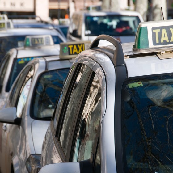 Taxis are an efficient way of moving around Udine.
