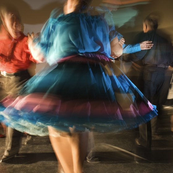Square dancing is more than an aerobic exercise -- it's a social event.