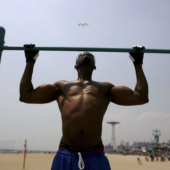 Calisthenic exercises like pullups are great for building muscle mass.