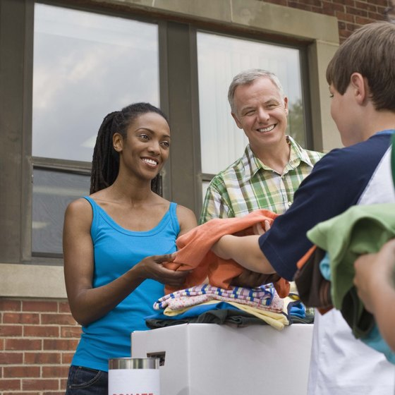 Philanthropic activities can include volunteering in your community.