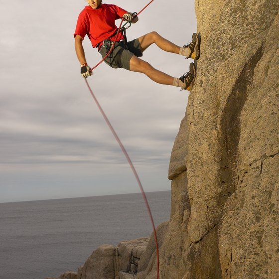 Starting a rock-climbing business requires expertise and skill in climbing methods as well as the ability to convince others they should hire you.