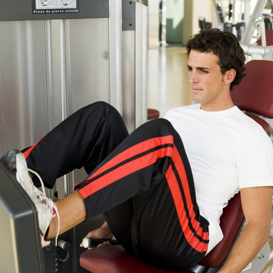 Build your thighs with the leg press.
