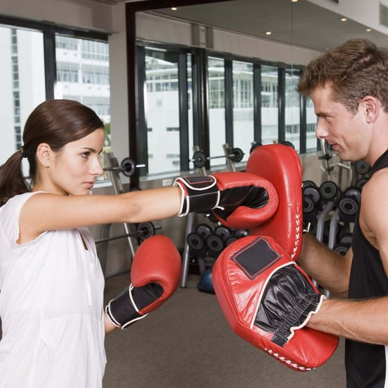 Hitting focus mitts is a common boxing drill at virtually all boxing gyms.
