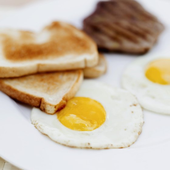 Most of the iron in eggs comes from the yolk.