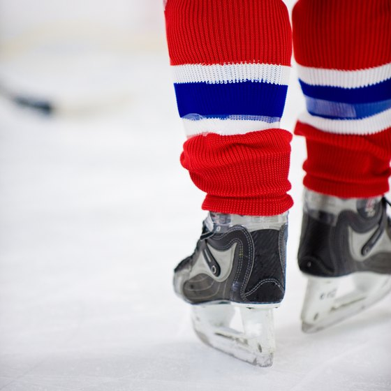 Leg soreness is common in intense hockey games.
