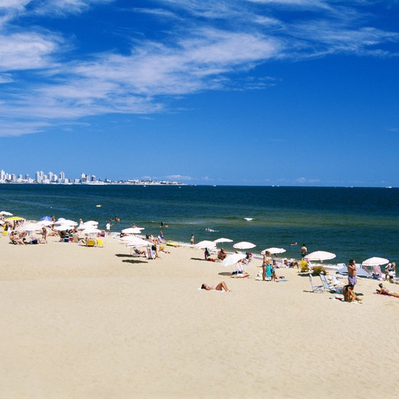 Uruguay's Punta del Este is a popular destination for tourists and well-off locals.