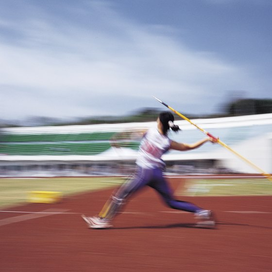 Javelin throwing relies more on control and technique than on brute strength.