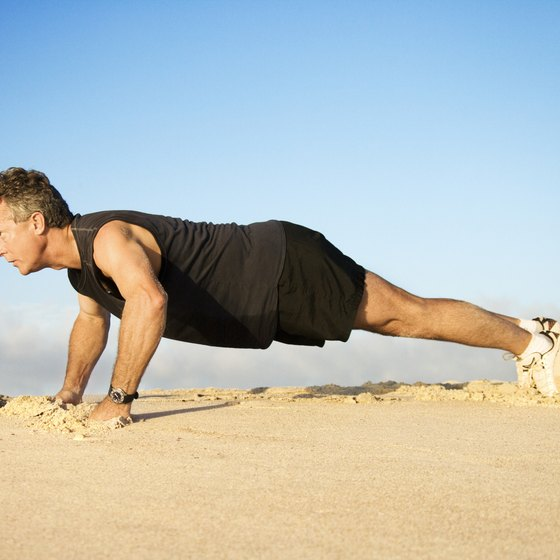 Pushups, like dips, work the chest.