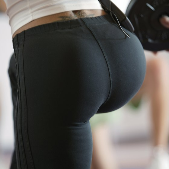 Lose extra butt weight with cardio and strength training.