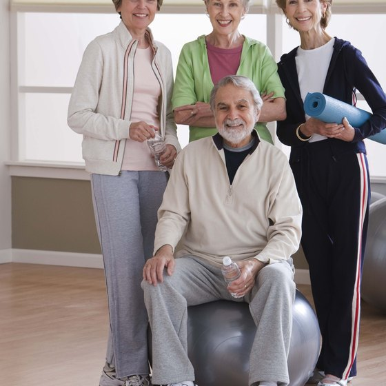 Exercise is a good way to stay active as you get older.