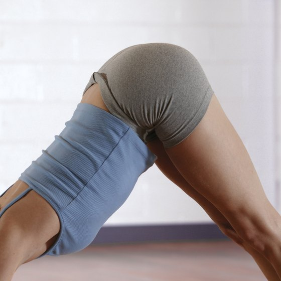 Downward-facing Dog is a light inversion that invigorates the spine.