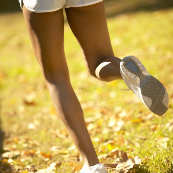 Strong legs are essential for running.