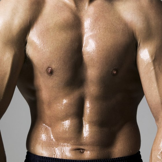 Use a variety of equipment to build a strong chest.