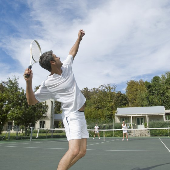 Tennis players need to have strong and flexible arms and shoulders.