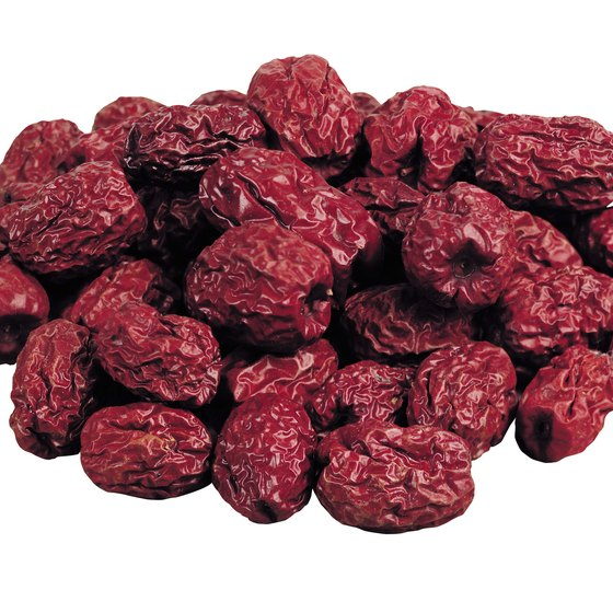 Dried cranberries contain dietary fiber, but they're low in vitamins and minerals.