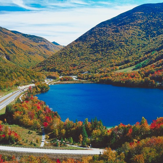 Many lakes are part of New Hampshire's rolling, colorful landscape.