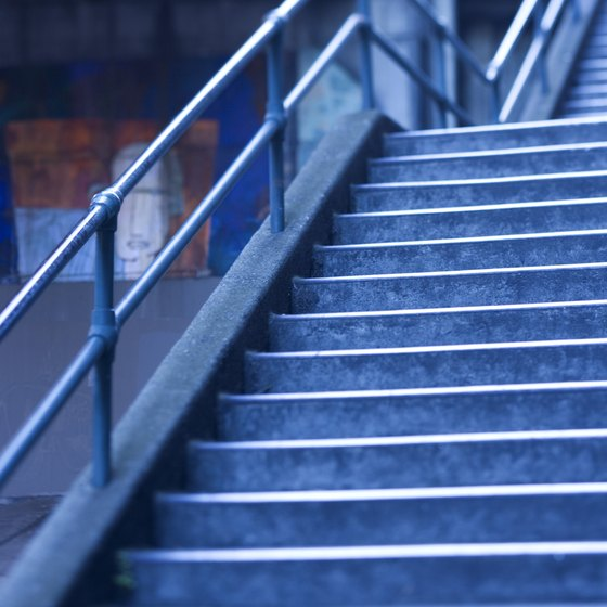 Never climb icy or wet stairs if exercising outdoors.