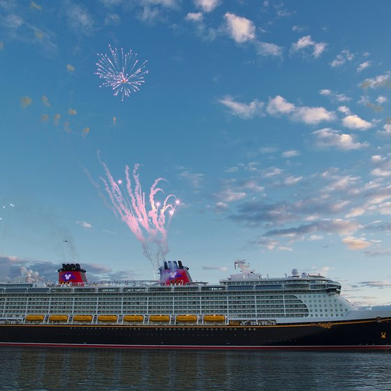 Disney ships are the only cruise ships to feature fireworks at sea.