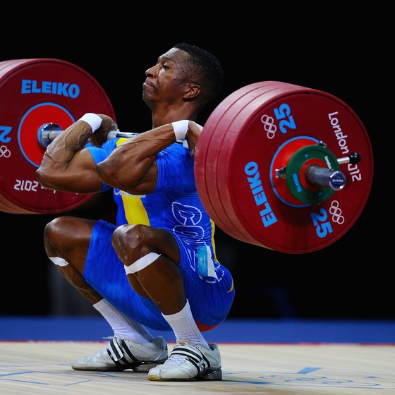 Front squats are a popular ancillary exercise for Olympic weightlifters.