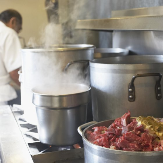 A catering kitchen should have sufficient capacity to enable you to prepare food in volume.