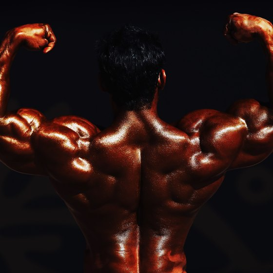 The back and biceps muscles work together in many exercises