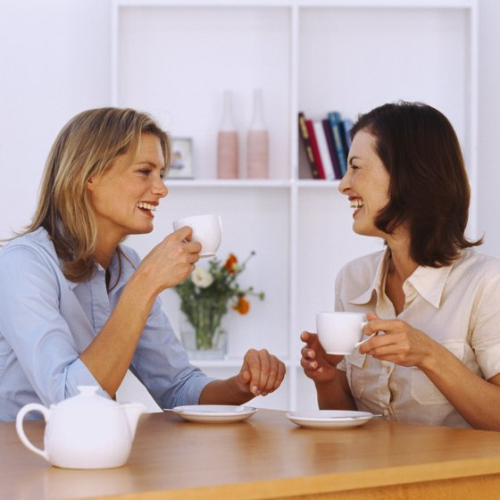 Sharing Earl Grey tea with a friend is a time-honored tradition.