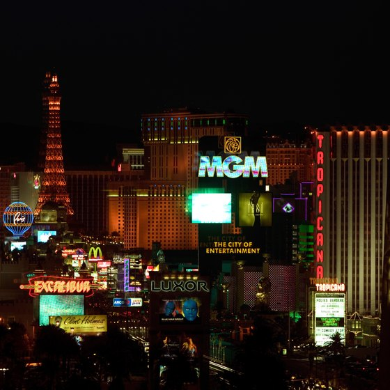 The Las Vegas Strip houses most of the city's most iconic casino resorts.