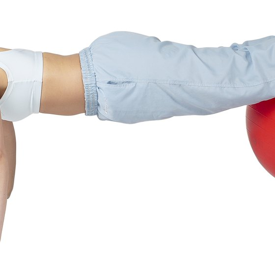 The use of a medicine ball or stability ball can increase the effectiveness of stunt training.