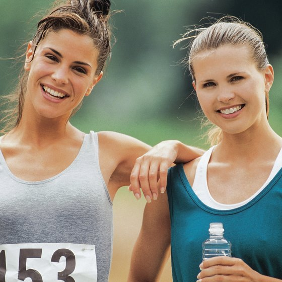 Running with a friend makes a race less of an ordeal.