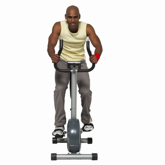 The adjustable nature of a stationary bike allows you to mimic hills and sprinting.