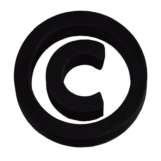 While the copyright symbol is widely recognized, there's no standard symbol indicating something is not copyrighted.
