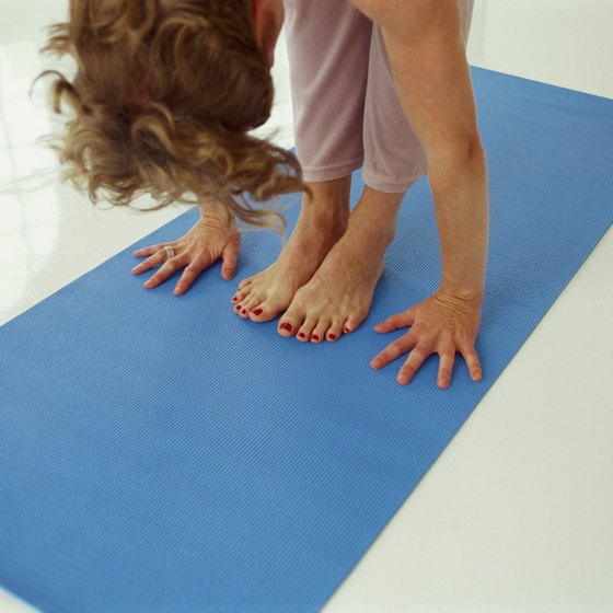 Memory foam yoga mats help your hands and feet stay rooted in poses.