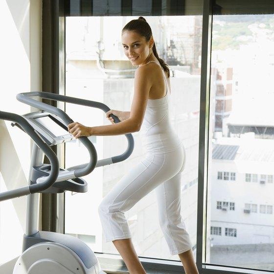 Slim your legs with an elliptical machine.