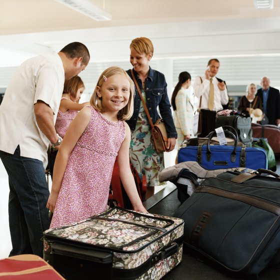 Airlines have size, weight and number restrictions on checked bags.
