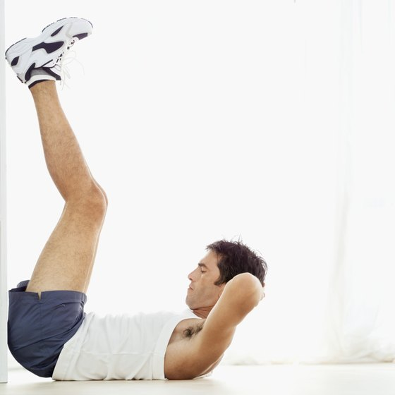 Lifting your legs slightly more than 90 degrees helps strengthen your abs.